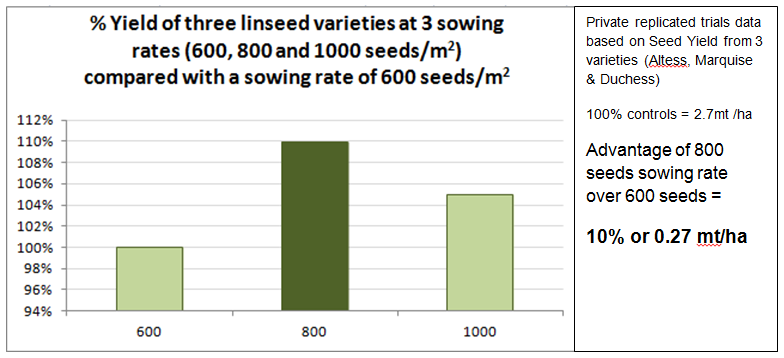 Linseed Rate Graph